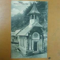 Carte postala Saliste Biserica de la fantana Foltei Editura Dumitru Comsa Saliste - Carte Postala Transilvania 1904-1918, Sibiu, Necirculata, Printata