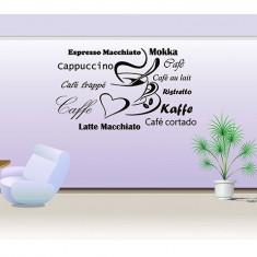 Coffee_Tatuaj de perete_Sticker Décor_WALL-527-Dimensiune: 30 cm. X 62 cm. - Orice culoare, Orice dimensiune - Tapet