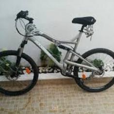 Vand/schimb bicicleta RockRieder 6.3 sau schimb cu orga korg - Mountain Bike Rockrider, 22 inch, Numar viteze: 24, Aluminiu, Caramiziu, MTB Full Suspension