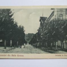 C.P. BAILE GOVORA ANII 20 - Carte Postala Oltenia dupa 1918, Baile Olanesti, Circulata, Printata