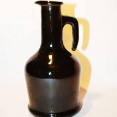 Sticla vintage, decor, brun inchis