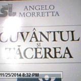 CUVANTUL SI TACEREA-ANGELO MORRETTA
