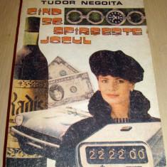 CAND SE SFARSESTE JOCUL - Tudor Negoita - Roman, Anul publicarii: 1991