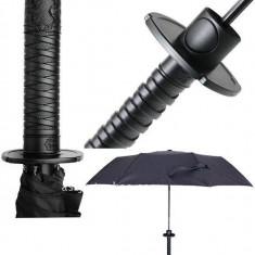 UMBRELA sabie katana SAMURAI ninja neagra parapleu cortel parazol ploier +CADOU - Umbrela Dama, Culoare: Din imagine, Compact