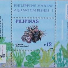 PHILIPPINE 1996 - PESTI DE ACVARIU 1 S/S, NEOBLITERATA - E1644
