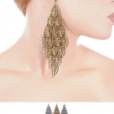 Cercei Lungi in Forma de Romb - Cercei Fashion