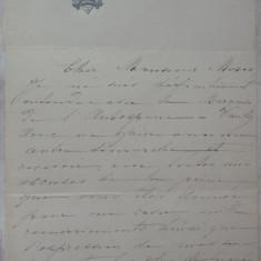 Scrisoare olografa a lui Zoe Mavrocordat Sturdza, sotia Principelui Mihail Sturdza, Ministrul de Externe al Romaniei legionare - Autograf