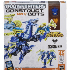 Robot Hasbro Transformers Constructs Bots 2 in 1 - Skystalker - 45 piese, Plastic, Baiat