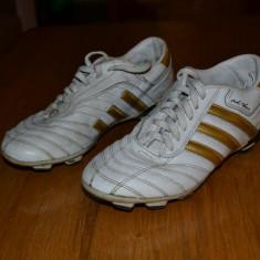 Ghete fotbal Adidas, Marime: 36 2/3, Culoare: Alb, 36 2/3, Alb, Copii