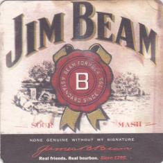 Suport de pahar / Biscuite JIM BEAM - Cartonas de colectie