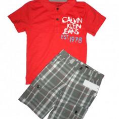 Set tricou pantaloni scurti Calvin Klein baieti 5 ani - ORIGINAL