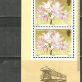 JERSEY 1986 - FLORI CRINI DE MARTIE, timbre nestampilate fara guma R306