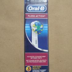 Set 3 rezerve capete periute dinti electrica ORALB ORIGINALE Floss Action Oral B