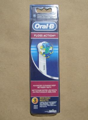 Set 3 rezerve capete periute dinti electrica ORALB ORIGINALE Floss Action Oral B foto