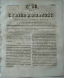 Curier romanesc , gazeta politica , comerciala si literara , nr. 86 din 1839 , prima gazeta romaneasca