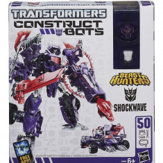 Robot Hasbro Transformers Constructs Bots 2 in 1 - Shockwave - 50 piese - Roboti de jucarie Hasbro, Plastic, Baiat