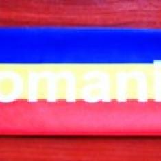Mini esarfa tricolor Romania, cu ventuze - Fular fotbal, Nationala