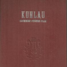 (C5413) KUHLAU - SONATINE PENTRU PIAN ( SONATINEN FUR KLAVIER), partituri muzicale, EDITIE INGRIJITA DE EUGENIA IONESCU
