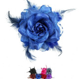 Elastic Pentru Par cu Trandafir, Culoare: Din imagine