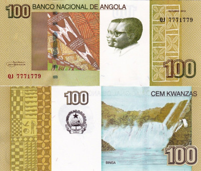 ANGOLA 100 kwanzas 2012 UNC!!! foto