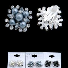 Cercei, Clips cu Perle si Pietricele