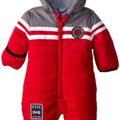 Combinezon US Polo Association Baby-Boys Infant Toned Puffer Bunting Snowsuit US Polo Assn, Marime: Alta, Culoare: Rosu