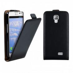 Husa LG F70 D315 Flip Case Inchidere Magnetica Black - Husa Telefon LG, Negru, Piele Ecologica, Cu clapeta, Toc