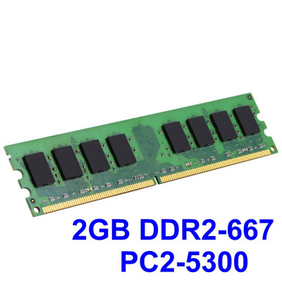 2GB DDR2-667 PC2-5300 667MHz , Memorie Desktop PC DDR2 , Testata cu Memtest86+ foto