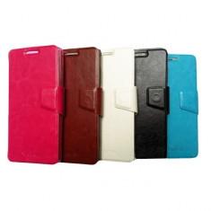 Husa Allview E2 Living Flip Case Inchidere Magnetica White - Husa Telefon Allview, Alb, Piele Ecologica, Cu clapeta, Toc