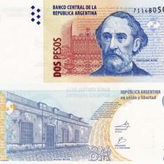 ARGENTINA 2 pesos 2010 - seria K UNC!!! - bancnota america