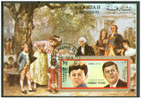 Sharjah 1972  personalitati , colita nedantelata ,stampilata, Stampilat
