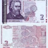 BULGARIA 2 leva 2005 UNC!!! - bancnota europa