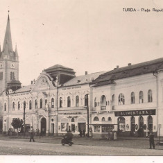 Carte postala(ilustrata)-TURDA-Piata Republicii - Carte Postala Transilvania dupa 1918, Circulata, Fotografie