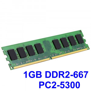 1GB DDR2-667 PC2-5300 667MHz , Memorie Desktop PC DDR2 , Testata cu Memtest86+