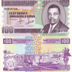 BURUNDI 100 francs 2011 UNC!!! - bancnota africa