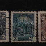 1929 cehoslovacia mi. 283-287 stampilate