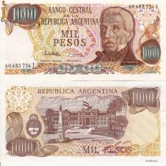 ARGENTINA 1.000 pesos 1983 UNC!!! - bancnota america