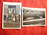 2 Fotografii -In gara Gheorghieni -Harghita 1939 si Molnita -Herta ( Ucraina)