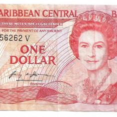 Eastern Caribbean 1 dollar dolar ND(1985-88) VF - bancnota america