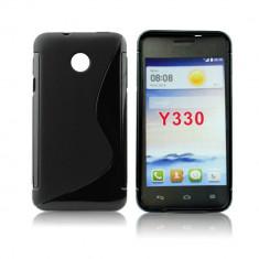 Husa Huawei Ascend Y330 TPU S-LINE Black, Negru, Gel TPU, Toc