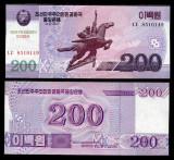 COREEA DE NORD- 200 WON (2008) 2014- COMM- UNC!!