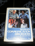 Human communication disorders - An introduction - George h. Shames