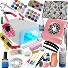 Kit set unghii gel manichiura - peste 100 produse - - Unghii false Coco