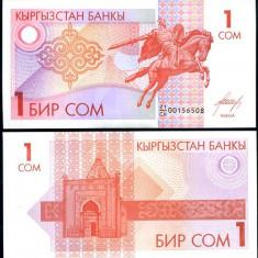 KYRGYZSTAN- 1 SOM 1993 -P 4- UNC!!