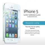 GEAM PROTECTIE Ecran IPHONE5. Geam SECURIZAT. FOLIE STICLA. Tempered Glass. Pachet SIGILAT. IPHONE