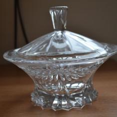 Bol cristal BOHEMIA / Bol cu capac cristal BOHEMIA - Bol sticla