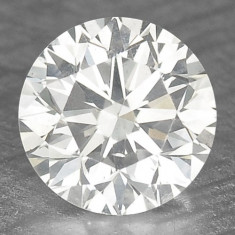 >>> DIAMANT NATURAL ALB - certificat de autenticitate - 0, 27ct. - 4 mm diametru - superb ! ! !, Briliant