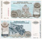 CROATIA 100.000.000 dinara 1993 KNIN UNC!!!