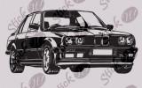 BMW_Tatuaj de perete_Stickere Décor_WALL-540-Dimensiune: 40 cm. X 20 cm. - Orice culoare, Orice dimensiune