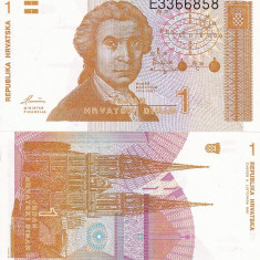 CROATIA 1 dinara 1991 UNC!!! - bancnota europa